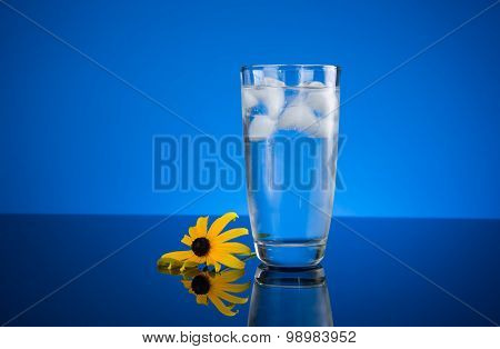Cold Glass Ice Water