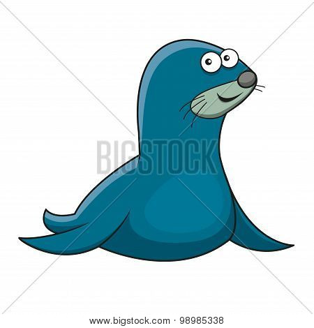 Cartoon sea fur seal character