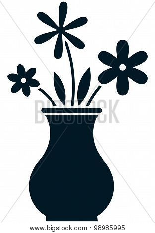 Vector Flowers Illustration Isolated On White