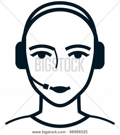 Vector Customer Care Service Specialist Woman Illustration