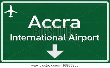 Accra Ghana Airport Highway Sign