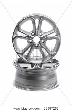 Two Steel Alloy Car Rims.