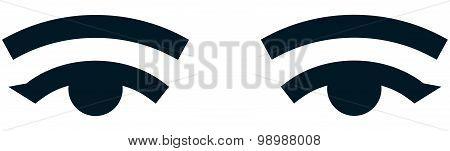 Vector Female Eye Isolated On White Background