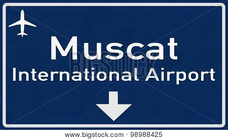 Muscat Oman Airport Highway Sign