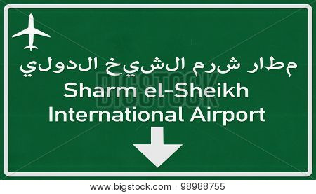 Sharm El Sheikh Egypt Airport Highway Sign
