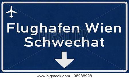 Vienna Austria Airport Highway Sign