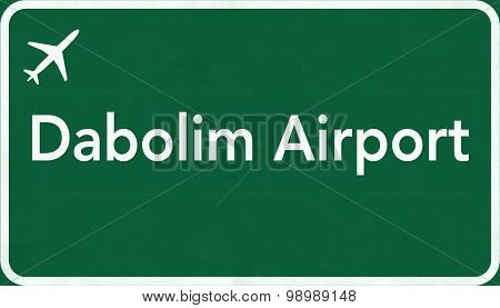 Dabolim Airport Highway Sign