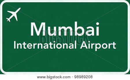 Mumbai India Airport Highway Sign