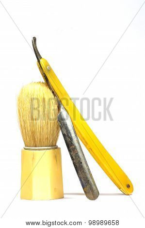 razor shaving brush