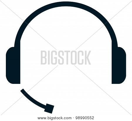 Vector Headset Illustration Isolated On White