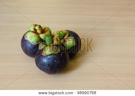 Mangosteens On Table