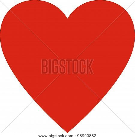 Vector Heart Valentine Isolated On White Background