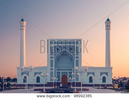 Mosque Portal At Sunset