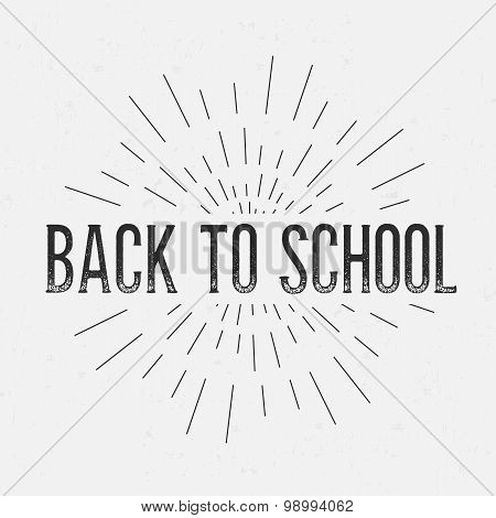 Abstract Creative concept vector design layout with text - back to school. For web and mobile icon i