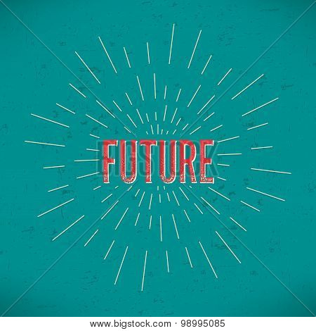 Abstract Creative concept vector design layout with text - future. For web and mobile icon isolated