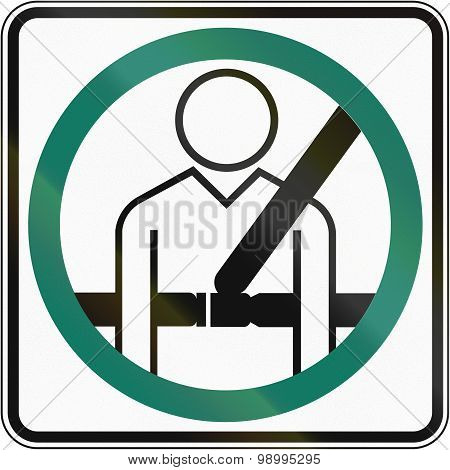 Seatbelt Usage Compulsory In Canada