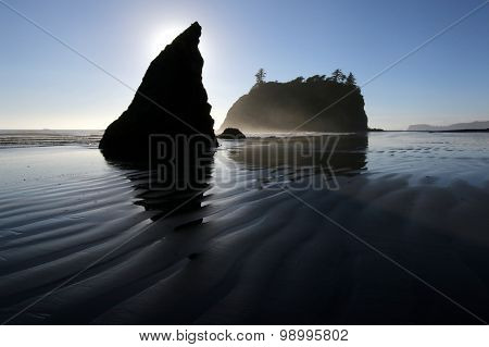 Sea Stacks and Sand Ripples