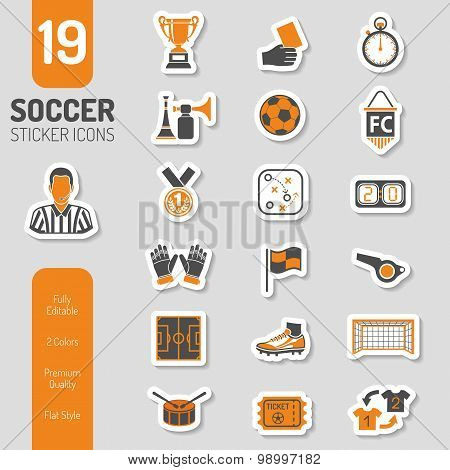 Soccer Icon Stickers