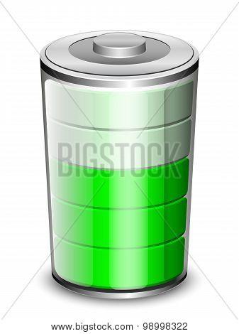 Battery Icon, Vector