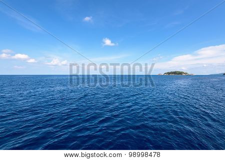 Small Island And Blue Sea At Mu Koh Similan