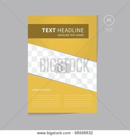Vector Brochure Template Design In Gold