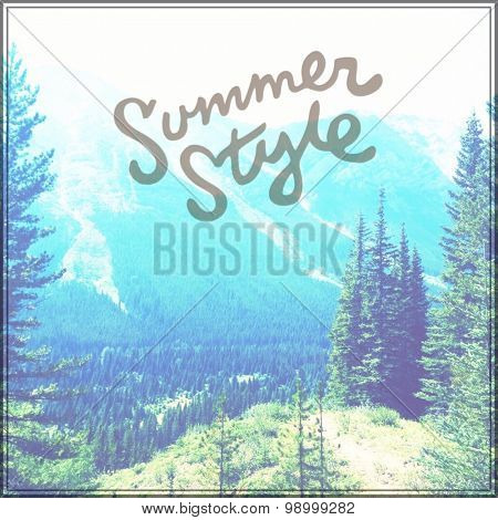 Inspirational Typographic Quote - Summer Style