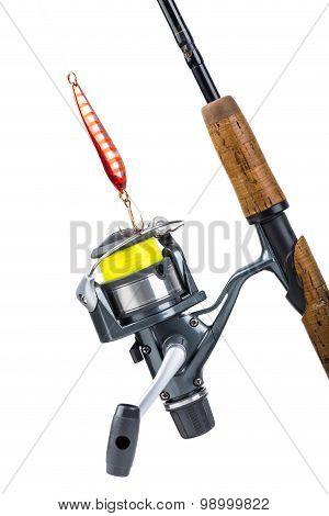 Fishing Rod And Reel With Line