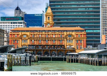 The Auckland Ferry Terminal is the hub of the Auckland ferry network. New Zealand