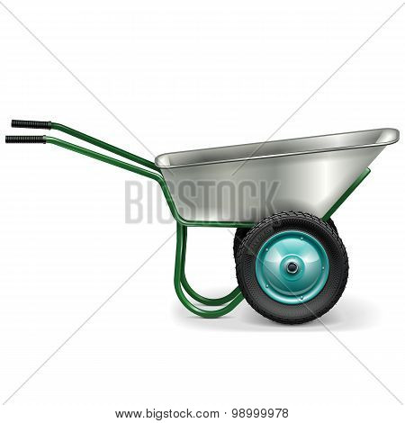 Vector Construction Wheelbarrow