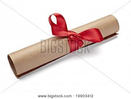 Red Retro Grunge Diploma Education