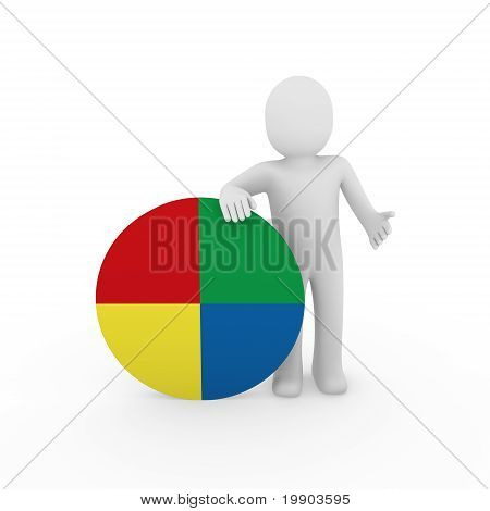 3D Man Circle Color