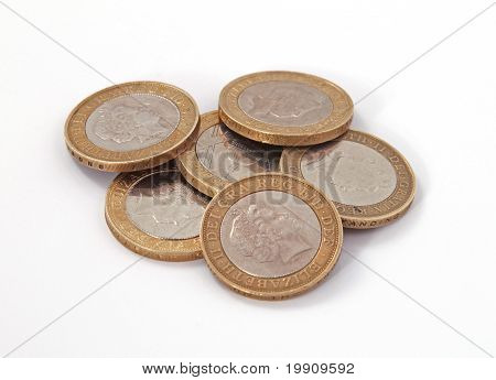 British, Uk, Two Pound Coins.