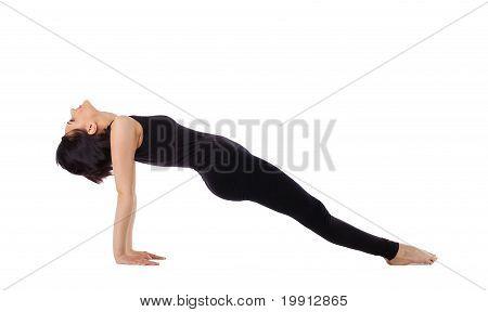 woman arm balance yoga asana- Upward Plank Pose