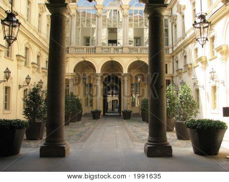 Torino Cityhall Courtyard