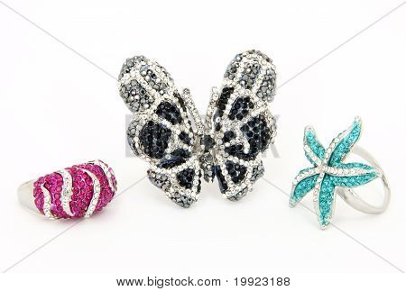 Gorgeous Rhinestone Rings