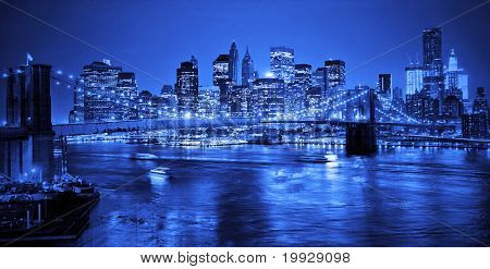 Brooklyn Bridge In Nyc At Night