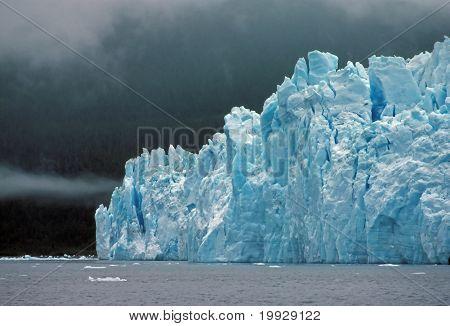 Columbia Glacier In Ocean Fog