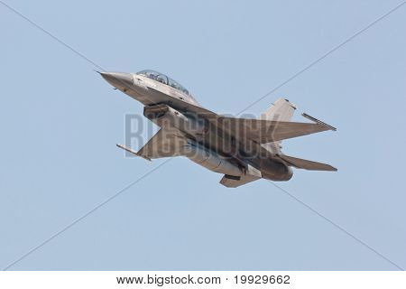 Monte Real, Portugal-april 7: F16 Portuguese Take Off For Touch And Go Training At Base N.5 Monte Re