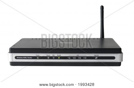Wireless Adsl Modem Router Isolated