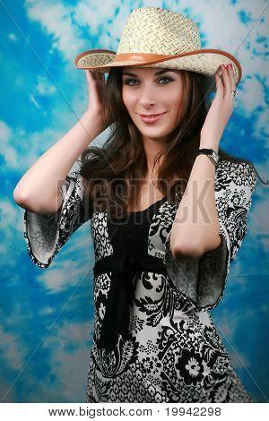 beautiful coquettishly girl