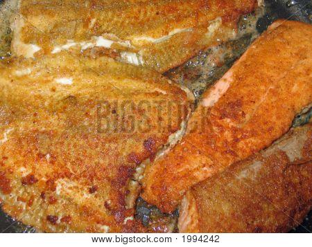 Plaice Fish In A Pan