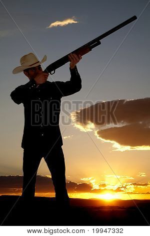 Cowboy Shotgun Sunset
