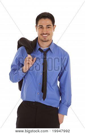 Business Man Jacket Shoulder Smile