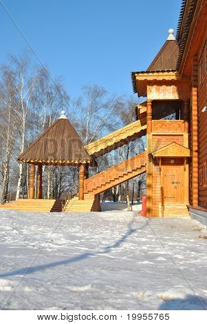 Wooden palace in Kolomenskoe, Moscow, Russia