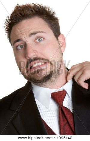 Uncomfortable Tuxedo Man