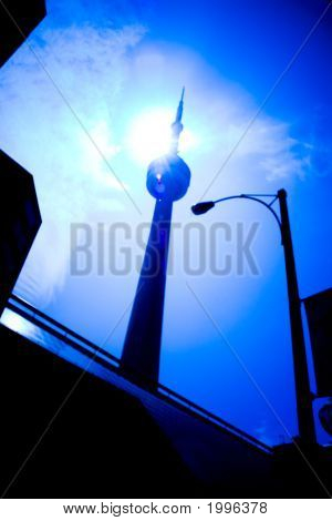 The CN Tower in downtown Toronto