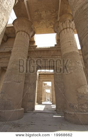Columns In The Temple Of Kom Ombo