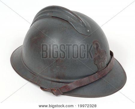 French Great War combat helmet.