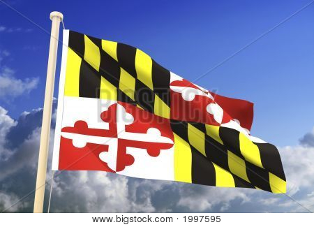 Maryland Flag (Clipping Path)