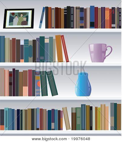 Vector Modern Bookshelf